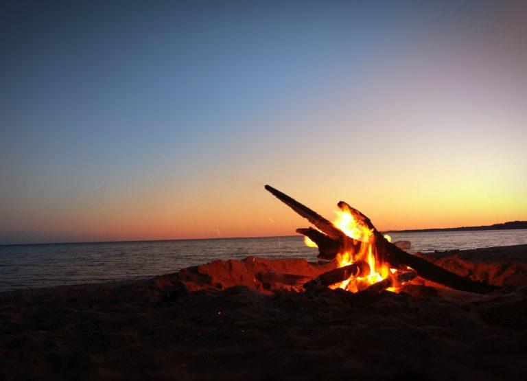 Táborák na pláži